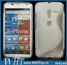 for Moto X Case TPU Skin S Line Shape
