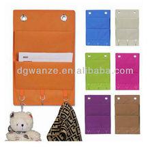 hanging storage bag with hooks / hanging wall pocket storage / bag storage