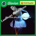 luminoso abito balletto fibra ottica incandescente abiti da ballo high grade tessuto in fibra di abbigliamento donna