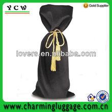 cheap fashion black velvet drawstring gift bag velvet wine bag