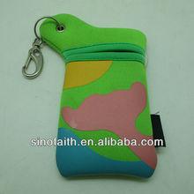 Silk printing neoprene foldable cellphone case