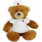 Get Well Soon teddy bear dressed as Nurse