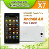 "2013 newest 5 "" iocean x7 quad core Smart phone with mtk 6589 dual camera Android 4.1 1920*1080 FHD 1G RAM Bluetooth WIFI GPS 3G"