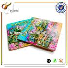 Travel souvenir paper printed glass coaster for Kitchen decoration TWC0847