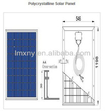 2013 High efficiency Hot Sale High Efficiency 85W, Polycrystalline pv solar module