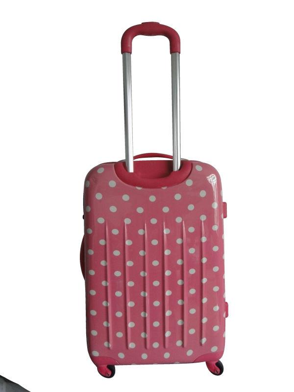 sky travel luggage 2013 Hot selling Korea fashion ABS+PC film printing trolley luggage bag