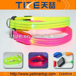 nylon led dog collars pet products dog from china TZ-PET2110F