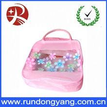 large arden clear pvc beach bag with zipperd canas insert