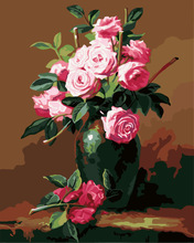 flower picture diy oil painting by numbers paint boy 40*50cm G265