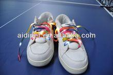 2012 fabric lighted-up LED custom shoelace charms