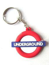 Custom PVC keyring/key ring for promotional gifts