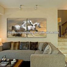 living room decorative running horse art mural