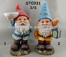 Garden Gnomes with Birdfeeder & Lantern Custom Garden Gnomes