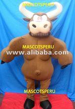 BARNEY COSTUME COW MASCOT BULL COSTUME