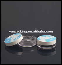 Rotate open design plastic powder case HF8045