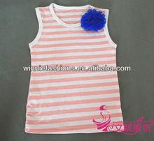 Pink White fashion girl tops