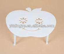 Wooden plastic sheeting Apple design compter desk