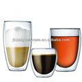 dupla camada de chá copo de vidro