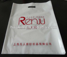 plastic die cut handle shopping bags /polybag