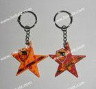 PVC 3d star Keychain , Soft PVC star Keyring