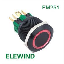 ELEWIND Black illuminated metal Push button(25MM,PM251F-11E/A,ROHS)