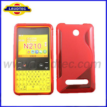 Confirmed 100% Fit Cheap S Line Wave TPU Gel Silicone Case Cover for Nokia N210.for Nokia N210 Silicone Cover Case