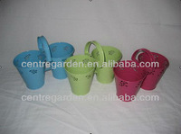Cute double flower pot for home plant