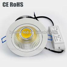 5w-30w cob adjustable led downlight 10w with 3 years warranty