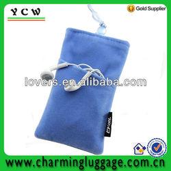 wholesale velvet mobile phone pouch bag