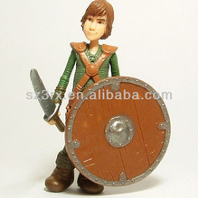 3D custome green plastic soldiers with weapon