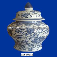 Fabulous Porcelain Flower Ginger Jar Vase, Custom Hand Crafts
