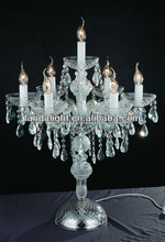 Clear Crystal Chandelier Table Lamp