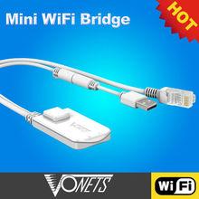 Worldwide 2013 NEWEST Dragon Mini WiFi Bridge Repeater+VONETS for wifi tv smart box