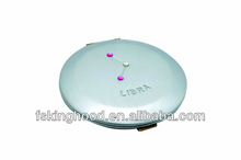 Round silver lighted compact mirror wholesale in bulk
