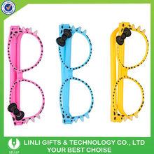 new design promotional glasses girl pen