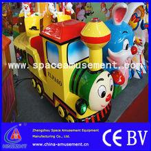 Happy castle train coin operated kiddie rides arcade game machine kiddie rides