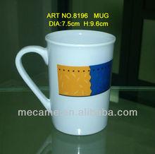 dia7.5*h9.6cm melamine cheap prindted mug