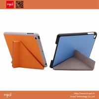 Smart multi angle stand slim colorful for ipad mini leather case - best gift idea