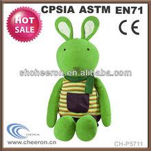 Green plush bunny rabbit toy