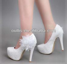 white wedding shoes 2013 women fancy high heel shoes CP6233