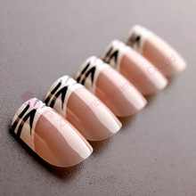 Design french fake nail tips curved tip false nails
