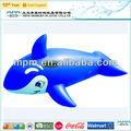 Pvc balena gonfiabile, gonfiabile balena blu, balena giocattolo di plastica per i bambini
