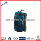 canvas/leather gym trolley travel duffle bag with wheels