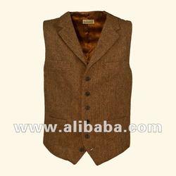 Mens Tweed Gilet Herringbone by Barwick Tweeds
