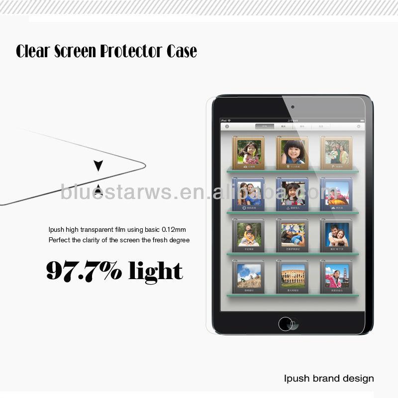 Factory price clear screen shield cover for ipad mini,film cover for ipad mini