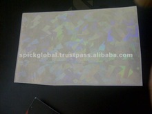 Geometrical Transparent Hologram for PVC Cards,Badges,event ticket pouch covers