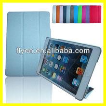 TRI-FOLD SLIM CASE FOR IPAD MINI Tri Fold Folio Smart Leather Case Cover for Apple iPad mini Gray