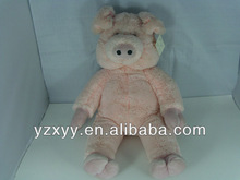 Cochon rose en peluche jouet / bricolage unstuffed cochon en peluche peaux