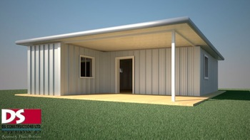 D-HOUSE, prefabricated house made of steel sheets.