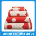100% algodão bordado em letras toalhas